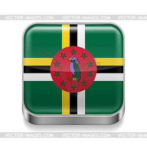 Metal-Ikone von Dominica - Vektor-Clipart / Vektorgrafik