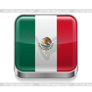 Metalllogo von Mexiko - Vektor-Clipart / Vektor-Bild
