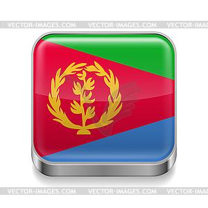 Metal-Ikone von Eritrea - Stock Vektor-Clipart