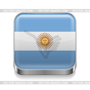 Metal-Ikone Argentinien - Vektor-Clipart EPS
