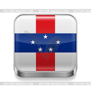 Metal-Ikone der Niederländischen Antillen - Stock-Clipart
