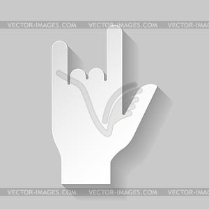 Hard Rock-Zeichen - vektorisierte Grafik