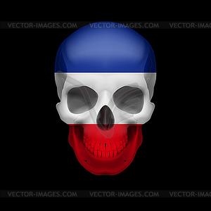 Jugoslawische Flagge Schädel - vektorisiertes Clipart