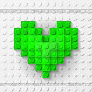 Grüne Herzen Baukasten - Vektor-Clipart / Vektor-Bild