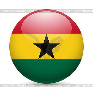 Runde glänzend Symbol von Ghana - Vektor-Skizze