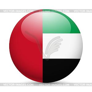 Runde glänzend Symbol der Vereinigten Arabischen Emirate - Klipart