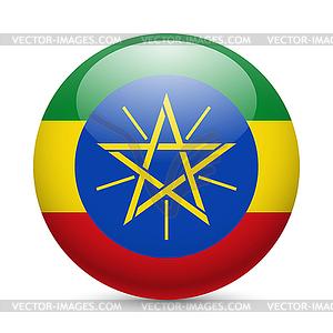 Runde glänzend Symbol von Äthiopien - Klipart