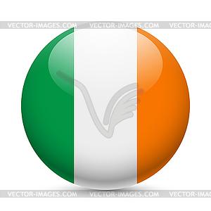 Runde glänzend Symbol von Irland - Stock-Clipart