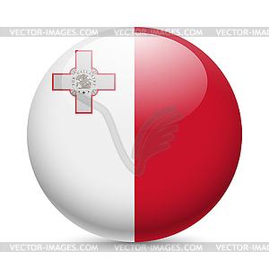 Runde glänzend Symbol von Malta - farbige Vektorgrafik