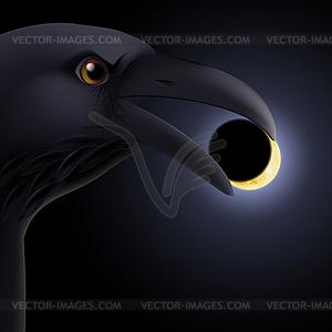 Schwarzer Rabe - Vector-Bild