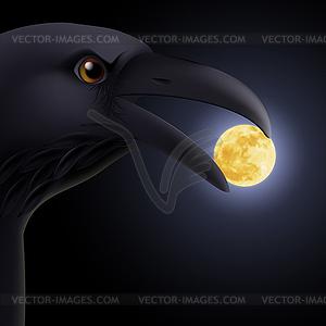 Schwarzer Rabe - Vektorgrafik