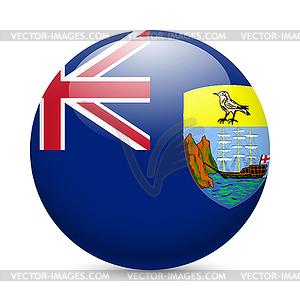 Abzeichen in den Farben der Flagge von Saint Helena - Vector-Abbildung