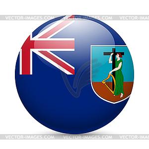 Abzeichen in den Farben der Flagge Montserrat - vektorisiertes Design