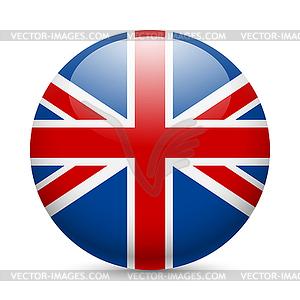 Runde glänzend Symbol von Großbritannien - Stock-Clipart