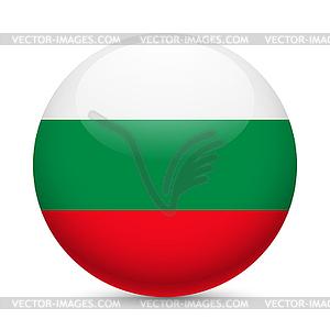 Runde glänzend Symbol Bulgarien - vektorisierte Grafik