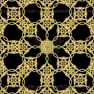 Asian goldene Muster auf schwarz - Vector-Design