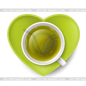 Romantische Tee trinken - Vector Clip Art