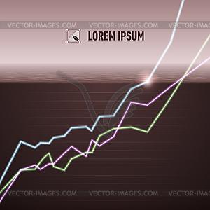 Aktien-Chart drehen positive - vektorisierte Grafik