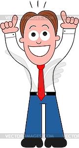 Cartoon Geschäftsmann Glücklich und Danken des Gottes - Vektor-Design