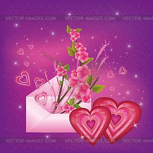 Valentinstagkarte - Vektor-Design