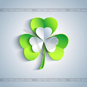 Schöne Patricks Tageskarte grau mit Kleeblatt - Vektor-Design