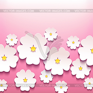 Schöne stilvolle Blumen-Hintergrund mit 3D - Vektor-Illustration