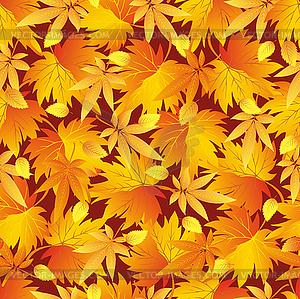 Nahtlose Muster mit gelb, orange, rot Herbst - Vektor-Clipart / Vektorgrafik