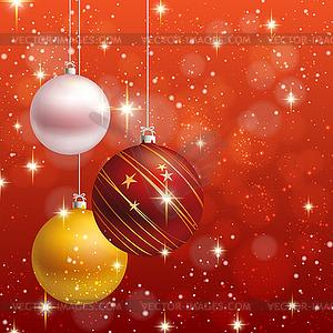 Weihnachten Ornament Hintergrund Karte - Royalty-Free Vektor-Clipart