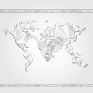 Dreieckige Weltkarte-Datei - Vector-Clipart