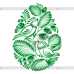 Floralen dekorative Ornament - Vector Clip Art
