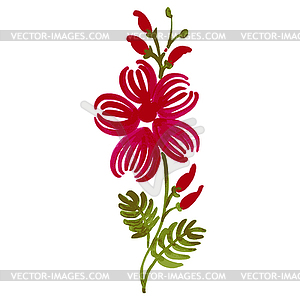 Floralen dekorative Ornament - vektorisiertes Clipart