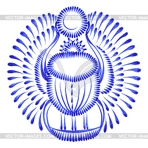 Dekorativen Ornament Skarabäus egypt - Vektor-Clipart / Vektorgrafik