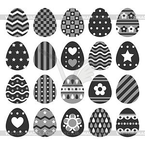 Set von Ostereiern von Ornament verziert - vektorisiertes Clip-Art