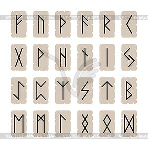 Set von Zeichen Runen auf dem Hintergrund - Vector Clip Art