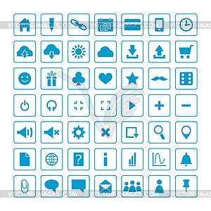 Set von Web-Icons für Business und Kommunikation - Vektorgrafik
