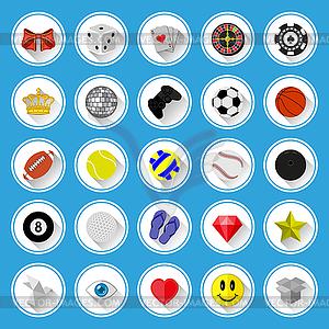 Flache Symbole und Piktogramme. Vektor-Illustration. - vektorisiertes Design