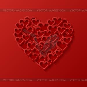 Abstrakt Liebe Hintergrund - Vektorgrafik