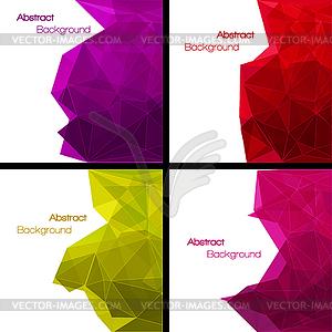 Set von abstrakten modernen Stil Hintergründe - Vector Clip Art