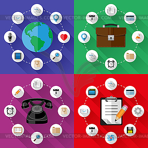 Set von Web-und Business-Konzepte - Vector Clip Art