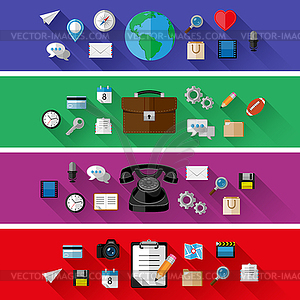 Set von Web-und Business-Konzepte. Flaches Design - Vector-Clipart
