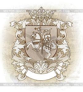 Wappen mit Reiter - Vector-Design