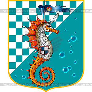 Seepferdchen Orange - Vector-Illustration