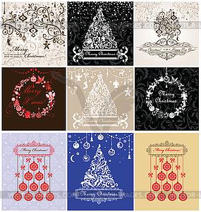 Weihnachten Grußkarten - vektorisiertes Design