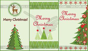 Weihnachten vertikale Banner - Stock-Clipart
