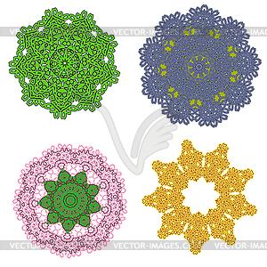 Lacy Farbe abstrakten Ornament - farbige Vektorgrafik