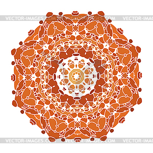 Lace floral bunten ethnischen Ornament - Royalty-Free Clipart