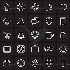 Moderne Web-Ikonen-Sammlung - Clipart-Design