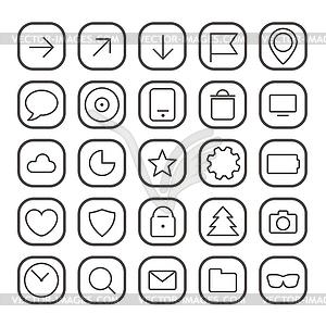 Moderne dünne Web-Ikonen-Sammlung - Vektor-Clipart