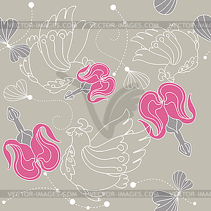 Abstrakte nahtlose floral background - Vektor-Bild