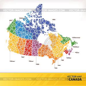 Landkarte von Kanada - Vector-Bild